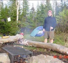 34. Second campsite in Jack lake