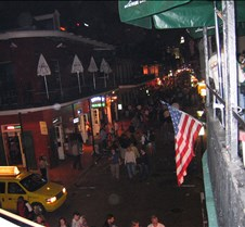 Bourbon St at night
