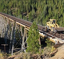 Rail Tractor on Clio Trestle