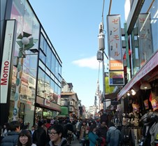 Shops Along Takeshita-dori