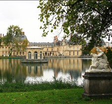 Chateau de Fontainebleau From The Lake