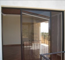 Sliding door into master bedroom