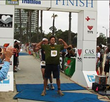 Dave Powers Finishes The LB Triathlon