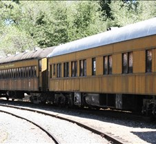Yellow Railway Coaches
