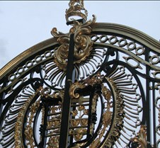 closeup of Buckingham Palace gates