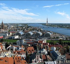 Riga Latvia From St Peters Church Tower
