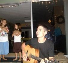 Karaoke with Dan's guitar