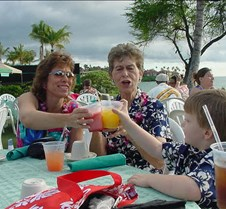 Luau Cheers with Carmen, Barbara and Gra