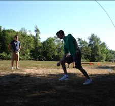 Josh Jumping Rope at Camp