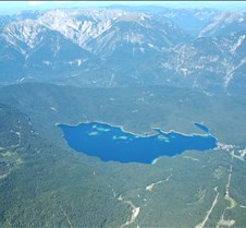 Eibsee from Zugspitze