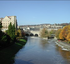 Bath Pulteney Bridge over River Avon
