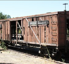 Sierra Railway Really Aging Box Car