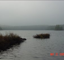 64.Morning fog in  Burnt lake