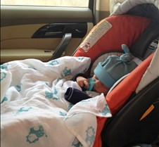luca in car - going home