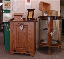 curio and  cabinet
