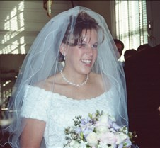 Stacy walking down aisle