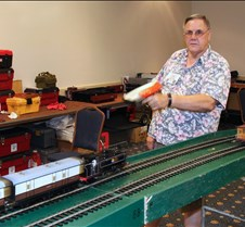 Jim Gabelich Speed Checking His Train