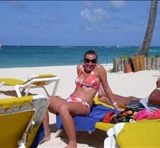 Maureen enjoying the beach!