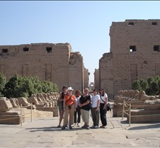 Group in front of Karnak Temple