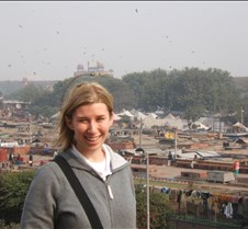 Overlooking Red Fort in Distance