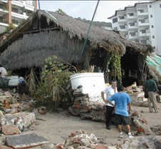 Hurricane Kenna hits Vallarta On October 25th 2002, Kenna, a category 5 hurricane, marched by the Bay of Banderas and caused untold damage. Here are pictures that describe it better than words.  I took every one of these pictures. The few that start with '2wk' means that the picture wa