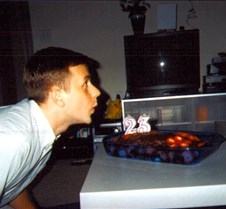 Bill Blowing out his candles