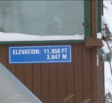 Elevation 11958 Sign Close-up