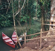 our canoes in the jungle