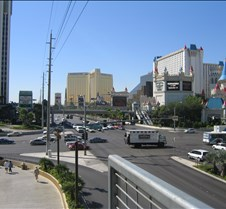 Las Vegas strip south of MGM