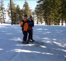 Josh & Dad on Skis