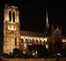 Notre Dame, Night View Over The Seine