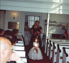 Caitlin walking down aisle