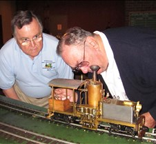 Jim Pitts & Norm Saley with Norm's Shay
