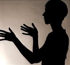 b&w silhouette