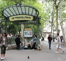 Metro Stop near Montmartre in Paris