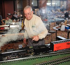 Yves Guillaume With His Live Steam Loco