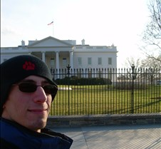 Josh at back of White House