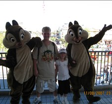 Tyler & Jaxy with Chip & Dale