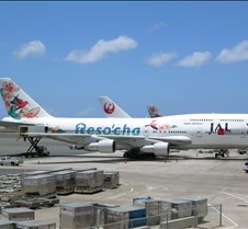 JAL 747 at HNL Gate26