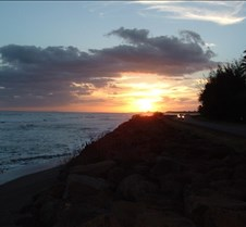Sunset on west coast near Waimea