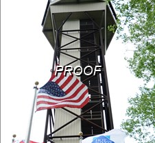 mountain tower flags