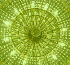 art - chandelier green