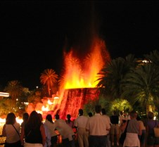 The volcano erupting at the Mirage