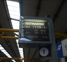 FCO - Train Station Sign