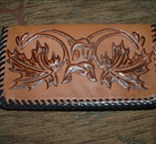 Maple leaf checkbook