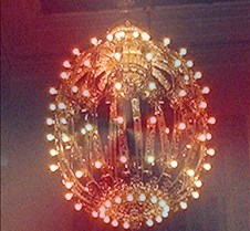 grand central chandelier red