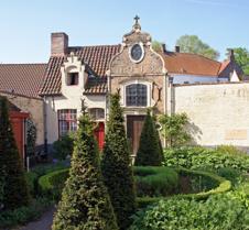 Stone House in Bruges Belgium