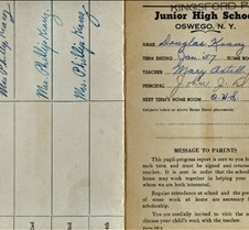 report card kingsfor park 1957 outside