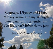 courage, dignity, and hope poem