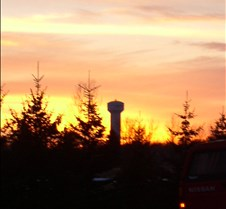 sunset by watertower